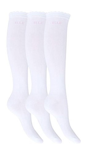 3 Pairs Girls Ladies Over knee Socks White 4-5.5(11+ Years)
