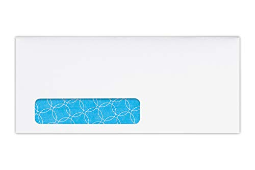 Envelope Window Antimicrobial (#10 Antimicrobial Window Envelopes (4 1/8 x 9 1/2) - 24lb. White Wove w/Sec. Tint (500 Qty.) Perfect for Checks, Invoices, Letters, Statements, Direct Mail, All Mailings | Printable | 10W-SAT-500)