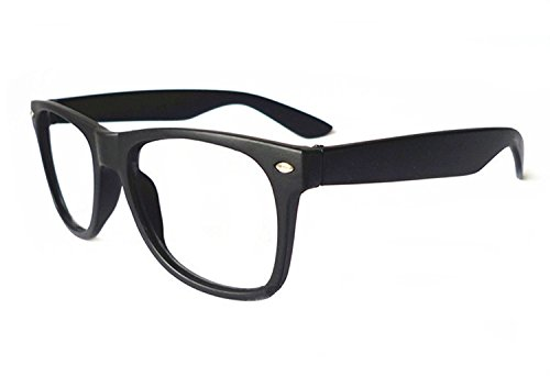 FancyG Classic Retro Fashion Style Glasses Frame Eyewear NO LENS - Matte - Nerd Glasses Costume