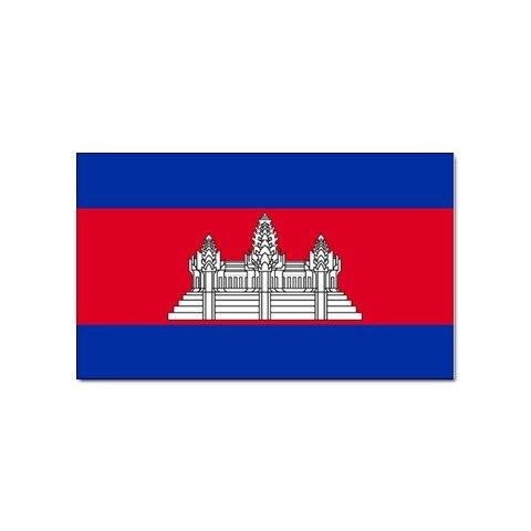 (Cambodia Flag Sticker)