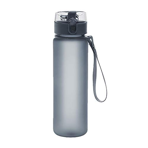 Price comparison product image Finance Plan Big Promotion 400ml / 560ml Frosted Portable Leak Proof Outdoor Travel Sports Water Cup Bottle Grey 560ml