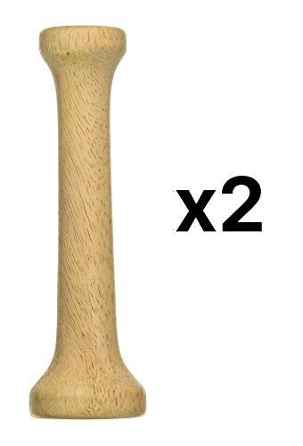 (Fox Run Wooden Pastry Tart Tamper Dual End Dough Press Double Sided 6