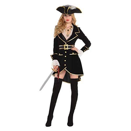 Amscan 8400661 Adult Treasure Vixen Pirate Costume, Large (10-12), Black -