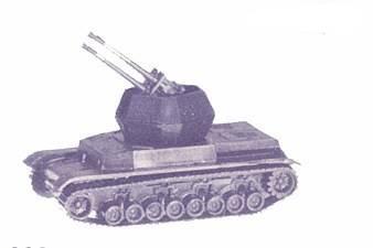 HO Roco German Wirbelwind Tank - 1/87th Military