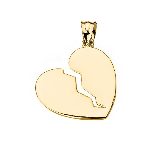 Claddagh Gold 10k Yellow Gold Broken Heart Charm Pendant