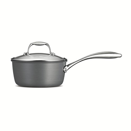 Tramontina  80123/011DS Gourmet Heavy-Gauge Aluminum Nonstick Covered Sauce Pan, 2-Quart, Hard Anodized
