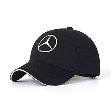 JDclubs Benz Logo Embroidered Adjustable Baseball Caps for Men and Women Hat Travel Cap Car Racing Motor Hat Pink
