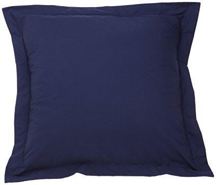 CottonKing Pillowcase Navy Blue Pillow Shams Set of 2 - 500 Thread Count With 100% Egyptian Cotton (2 Pack, Euro 26x26) (Blue Euro Sham)
