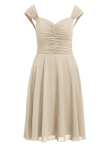 Dress Gown Party Dresses s Alicepub Women Formal Short Chiffon Bridesmaid Champagne Event TqwpzvA8