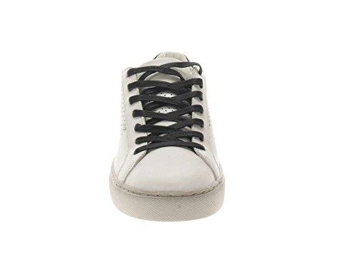 in Sneaker 11219KS1 Pelle Uomo London Uomo Crime Sneaker 10 Bianco xXwtyRBFYq