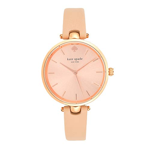 kate spade new york Women's 1YRU0812 Holland Analog Display Japanese Quartz Beige Watch (Designer Watch Womens)