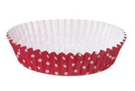 Welcome Home Brands (T70214PGA) Ruffled Baking Cups, Red with White Dot, Set of 30 by Welcome Home Brands
