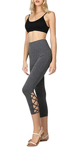 WeSeeFashion Yoga Workout High Waisted Leggings with Tummy Control for Women Charcoal -