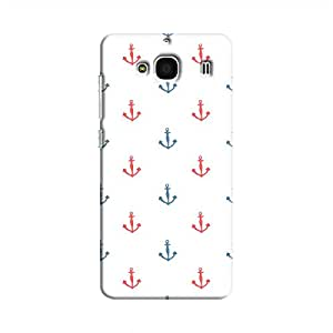 Cover It Up - Red&White Anchors Clear Redmi 2 PrimeHard Case