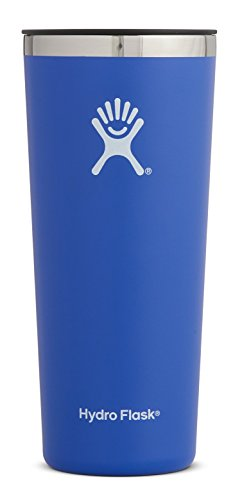 Hydro Flask 22 oz Double Wall Vacuum Insulated Stainless Steel Travel Tumbler Cup with BPA Free Press-In Lid, Blueberry by Hydro Flask