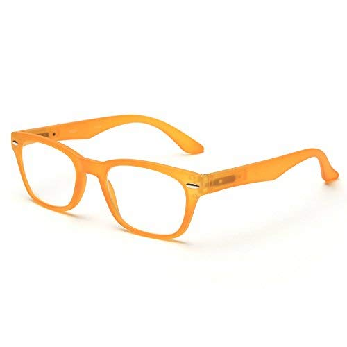 (MIDI Wellington Reading Glasses for Women (M-203) Designed in Japan/Fine Spring Hinge for Comfort fit/Available in 3 Chic Colors (+2.50, Matted Yellow))