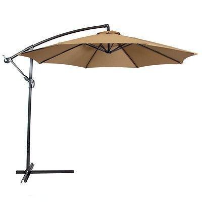 10ft Out Door Deck Patio Umbrella Off Set Tilt Cantilever Hanging Canopy - Store Hongkong Outlet