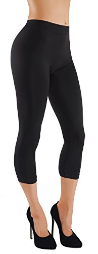 Vesi Star Women's Soft Basic Solid Assorted Color Leggings Wide Waistband Elastic