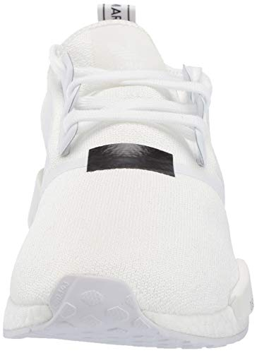 adidas Originals Men's NMD_R1 Running Shoe White/Black, 4 M US by adidas Originals (Image #4)