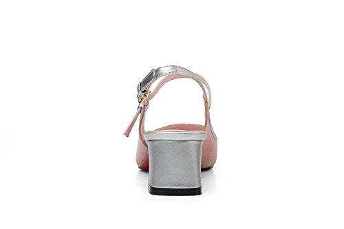 Inconnu 1TO9, Sandales Compensées Femme - Rose - Rose, 36.5