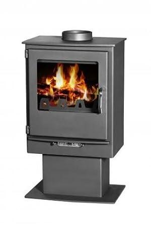 Nuevo Super moderna estufa de leña chimenea Log quemador solidfuel Leo 5 kW: Amazon.es: Bricolaje y herramientas