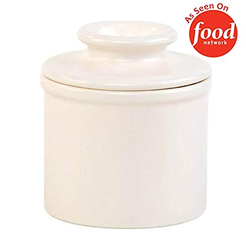 The Original Butter Bell Crock by L. Tremain, Retro & Matte Collection - Classic Ivory