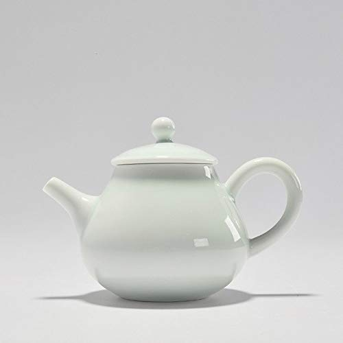 BeesClover Style Jingdezhen Chinease Kung Fu Tea Set Celadon Ceramic Teapot 300ml Teapot for Home and Office X Show