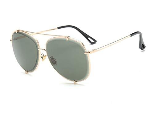 UV400 la Unisexe protection Huyizhi soleil de voyager en soleil Lunettes Golden de Décoration air Cool Lunettes de lunettes conduite plein Frame Big S5qC8Zqw