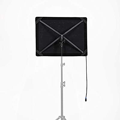 Falcon Eyes RX-18T LED Video Light Panel Daylight with Softbox Diffusor Honeycomb Grid CRI95 5600K DC Adapter for Studio Interview Photography Battery do not Include