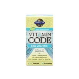 Garden of Life Vitamin Code Vitamin E, 60 Capsules