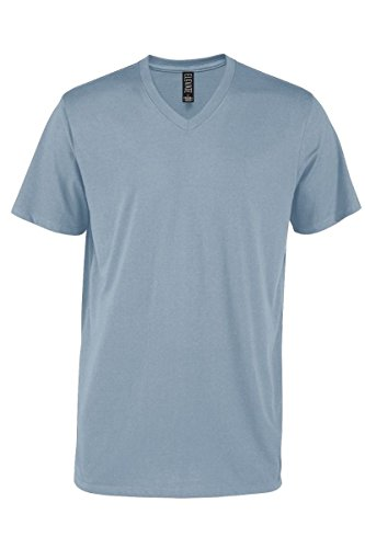 Casual Garb Men's V-Neck T Shirt Short Sleeve Tee T-Shirts for Men Elevate Series Steel X-Large