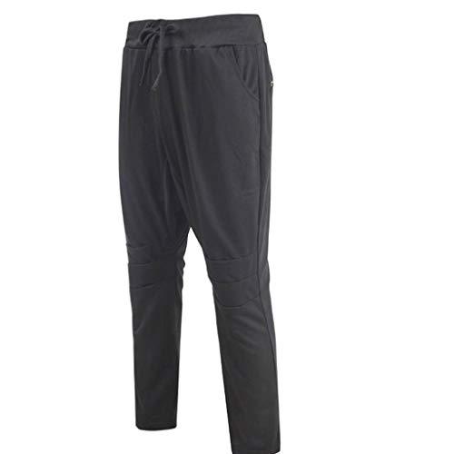 Allywit Men's Casual Sweatpants Bodybuilding Sportswear Running Trousers with Pocket Black