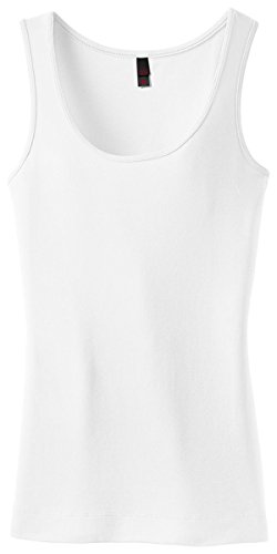District DT235 Ladies' Juniors 1x1 Rib Tank Sleeveless Shirt PartNumber: 00000000000000003988000000000000000DT235P