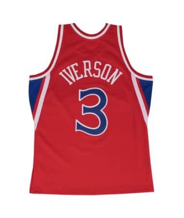 Mitchell & Ness Allen Iverson 1996-97 Philadelphia 76ers Red Swingman Jersey
