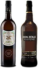 Vino fino en rama Tío Pepe d 75 cl y Vino Fino Don Zolio de 75 cl - Mezclanza Exclusiva