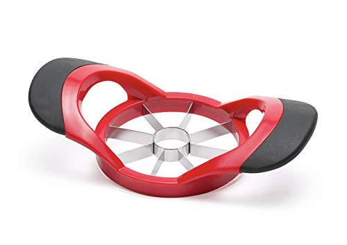West Ox Apple Slicer and Corer,Stainless Steel Ultra-Sharp Apple Cutter,Pitter,Divider,Corer