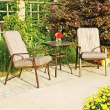 Mainstays Lawson Ridge 3-Piece Outdoor Patio Bistro Furniture Set, Seats 2 (tan)