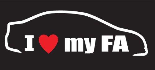 I Love My FA Decal, sticker, die cut, drifting, racing, jdm