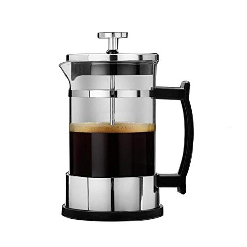 Bubble-Princess - 350ml Manual Coffee Espresso Maker Pot Stainless Steel Glass Teapot Cafetiere French Coffee Tea Percolator Filter Press Plunger
