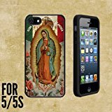 Virgen de Guadalupe Mexican Life Custom made Case/Cover/skin FOR Apple iPhone 5/5S - Black - Rubber Case + FREE SCREEN PROTECTOR ( Ship From CA)