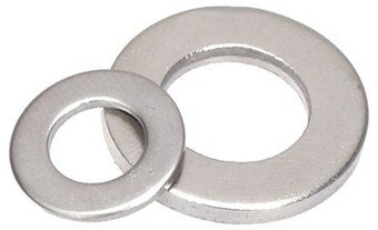 (9000pcs) DIN 125 M4 Flat Washers (4.3mm ID) type A A4 Stainless Steel, Ships FREE in USA by Aspen Fasteners, ASSP0125443
