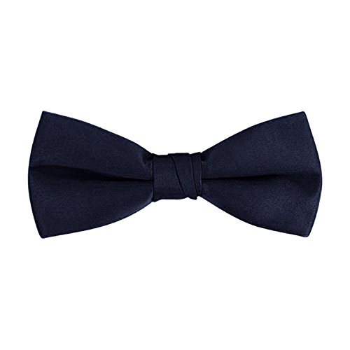 Men's Classic Pre-Tied Formal Tuxedo Bow Tie - Navy, By S.H (Navy Blue Mens Bow Tie)