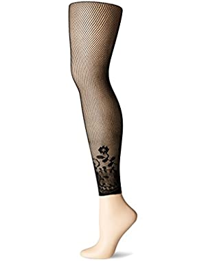 Hanes Silk Reflections Women's Hanes Novelty Border Footless Net Tights