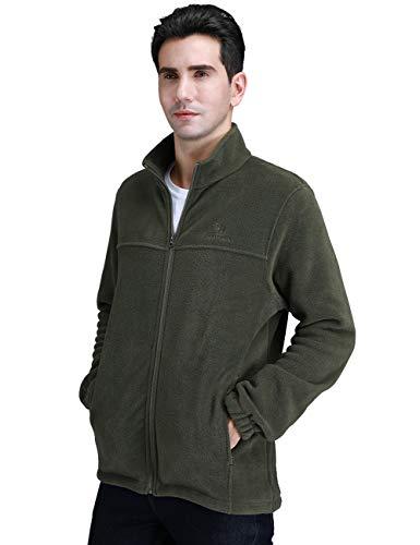 CAMEL CROWN Men Full Zip Fleece Jackets with Pockets Soft Polar Fleece Coat Jacket for Fall Winter Outdoor Dark Blue - Advantage Soft Jacket