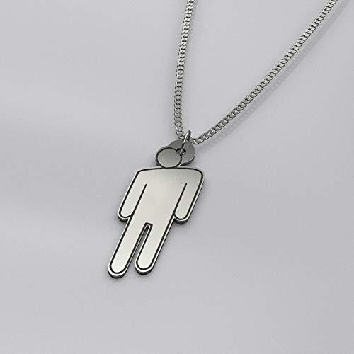 blohsh necklace logo charm sterling silver - billie eilish chain blohsh pendant silver 925 engraved