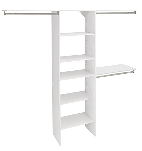 ClosetMaid 1931940 SuiteSymphony 25-Inch Closet Organizer with Shelves, Pure White