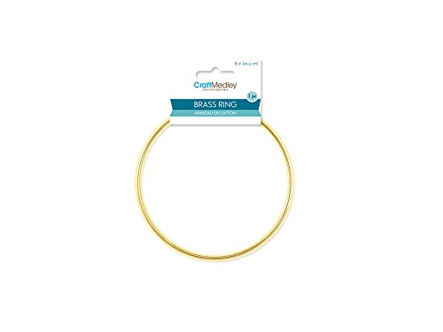 - CraftMedley Brass Rings, 8in, Round, 1-Piece, 8