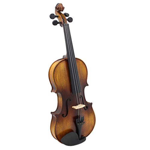 Baosity 4/4 Full Size Spruce Natural Color Wood Violin Fiddle Case Bow Rosin Set by Baosity