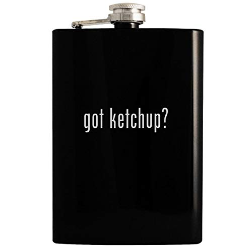 got ketchup? - Black 8oz Hip Drinking Alcohol Flask