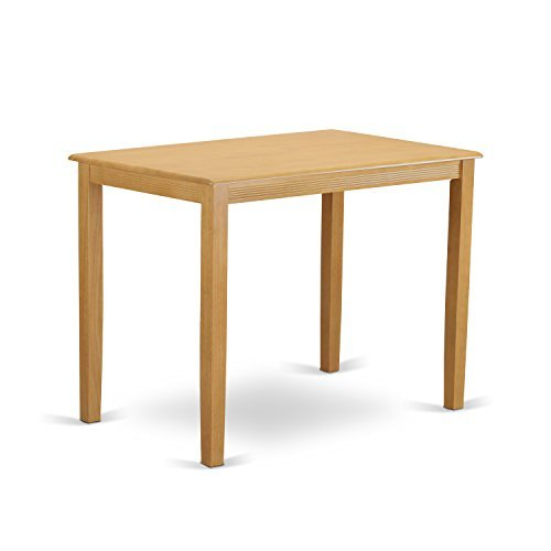 East West Furniture YAT-OAK-H Yarmouth Counter Height Table, Oak Finish - Solid Oak Dining Table